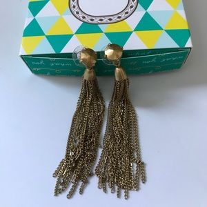 Stella & Dot Gold Fringe Earrings